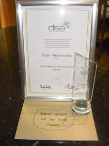 DSA Direct seller of the year Gail Reynolds