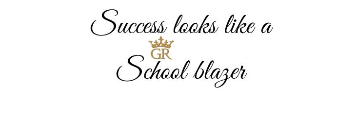 Success looks like a school blazer